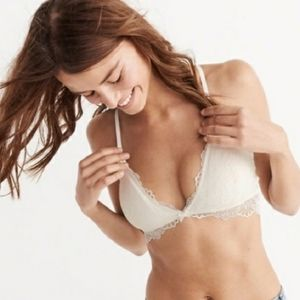 Abercrombie Off-White Lace Bralette